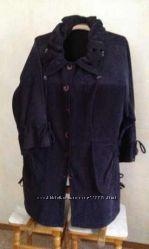 вельветовое манто - пальто батал р. 54-56 Турция