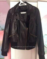Кожаная куртка George черная