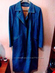 Шикарный джинсовый плащ пальто тренд