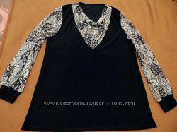 Красивая блуза с воздушными рукавами. Размер 50-56