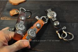 Кожаный брелок для ключей Diesel