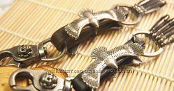 Кожаный брелок для ключей в стиле панк