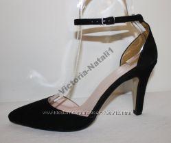 Туфли натуральная кожа и замша BENNETON размер 39, 5  стелька 26, 5см