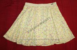 Юбка желтая GUESS Los Angeles размер S-M 28, юбка шелковая BEBE XS, M, L