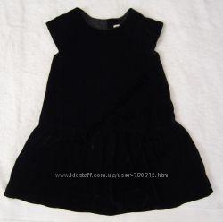 Платье бархатное черное, красное BENETTON, H&M 1-3, 2-4, 4-6, 6-7