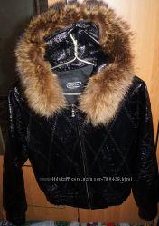Красивая кожаная куртка 44-46 р.