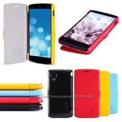 Кожаный Чехол Nillkin Nexus 5 E960 4Цвета Отправка 6 дней в неделю.