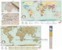 Скретч Карта Мира Англ UFT Scratch Map