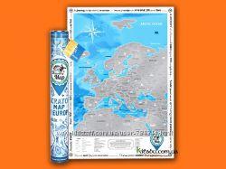 Скретч-карта Европы Discovery
