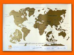 Скретч карта мира 3-в-1 Personal travel map RU