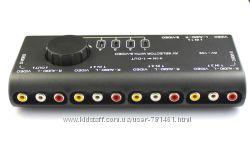 AV коммутатор - RCA переключатель 4 входа - 1 выход
