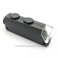 Мини микроскоп 60x-100x c подсветкой