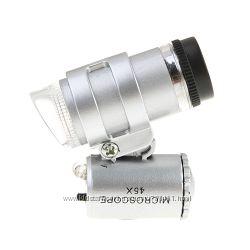 Карманный микроскоп 45X с подсветкой