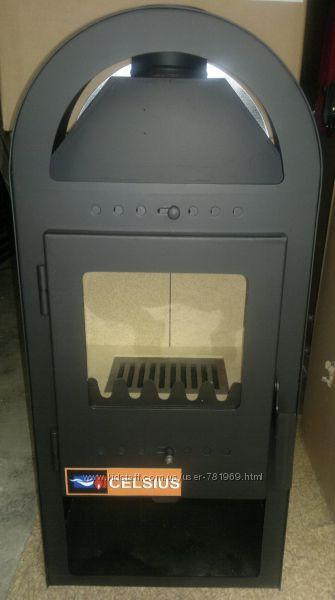 камин буржуйка печь с окошком на дровахк 5 кВт