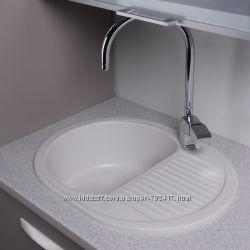 Кухонная мойка Fancy Marble Yuta цвет белый, песочный, светло-черный