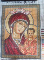 Канва с рисунком для вышивки крестом икона