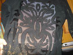 Блуза Waggon с ажурной спинкой и золотом