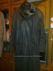 Пальто-плащ из нубука