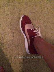 Ботинки туфли натуральная кожа замш