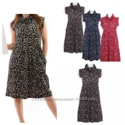 Платье плотное красное, коричневое, синие Италия Conbipel L 40 размер
