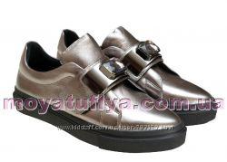 кожаные туфли Versace