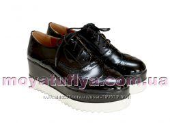 Туфли криперы натуральная кожа лак