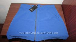 юбка трапеция синяя M