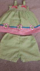 Пакет летних вещей для девочки 6-12месяцев