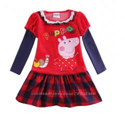 Свинка Пеппа велюровое платье, рост 92, новое