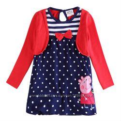 Платье с болеро свинка Пеппа, рост 116, наличие