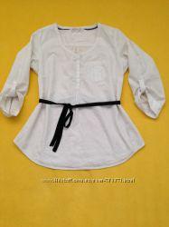 Оригинальная белая блузка, с вышитыми узорами Индия