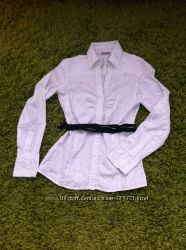Стильная розовая и белая блузка