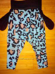 Классные, крутые, модные леопардовые штаники, бриджи на 2-4 года