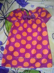 Красивое платье, сарафан в горох 3Т OSH KOSH