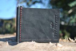 Зажим для денег. Кожаный кошелёк. Кожаное портмоне. Кожаный зажим для денег.