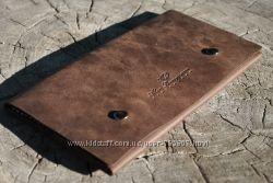 Кожаное портмоне. Кожаный кошелёк ручной работы. Портмоне кожаное. Бумажник.