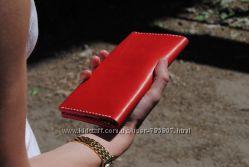 Кожаное женское Портмоне. Кожаный кошелёк. Кожаный чехол.