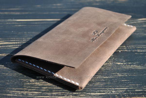 Кожаный чехол для iPhone. Чехол для телефона. Кожаное портмоне.
