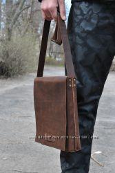 Мужская сумка . Кожаная сумка.