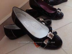 Кожаные школьные туфли 33р