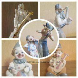 Фарфоровые статуэтки клоуны и ангелы