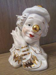 Фарфоровая статуэтка Голова клоуна