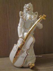 Фарфоровая статуэтка Клоун с виолончелью