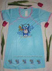 Рубашки для кормления на пуговичках Мишка и Аист.