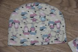 Модный комплект шапка  снуд  повязка девочке