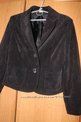 Пиджак вельветовый черный для девочки на подкладке