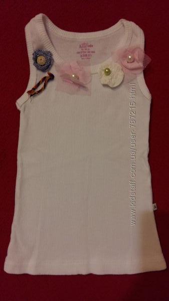 Модные маечкики для девочек с апликацией