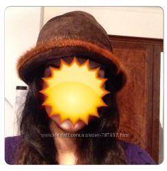 Замшевая шапочка с норкой