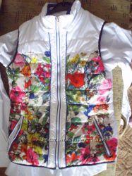 жилетка - безрукавка цветочный принт