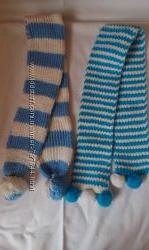 Детские шарфики новые вязанные